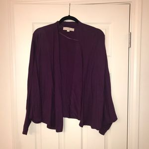 Open front cocoon cardigan